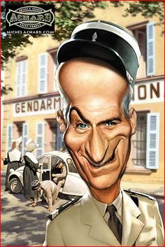 Caricature Louis de Funès Plus - Hubert Lebret - Phintix Share Cartoon Faces, Funny Faces, Cartoon Characters, Caricature Artist, Caricature Drawing, Drawing Art, Funny Caricatures, Celebrity Caricatures, Celebrity Drawings