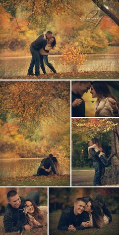 fall engagement photos are beautiful! Couple Photography Poses, Autumn Photography, Engagement Photography, Wedding Photography, Anniversary Photography, Shooting Couple, Shooting Photo, Wedding Couple Pictures, Engagement Pictures