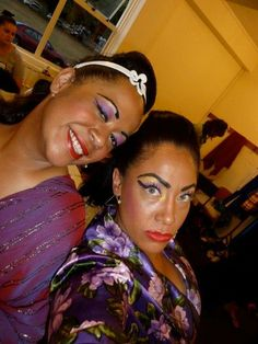 with my girl Liza...back stage at Founders Theatre...Hairspray production