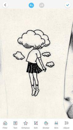 doodles aesthetic * doodles + doodles easy + doodles drawings + doodles for bullet journal + doodles zentangles + doodles art + doodles easy simple + doodles aesthetic Cute Doodles Drawings, Cool Art Drawings, Pencil Art Drawings, Art Drawings Sketches, Funny Doodles, Funny Drawings, Easy Drawings Of Girls, Cute Drawings Tumblr, Simple Drawings