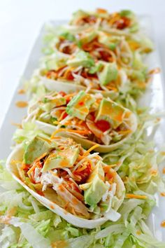 Sriracha Chicken Tacos Boats