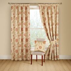 Montgomery Red 'Poppy Trail' Curtains 116CmX137Cm   Curtains   Arnotts