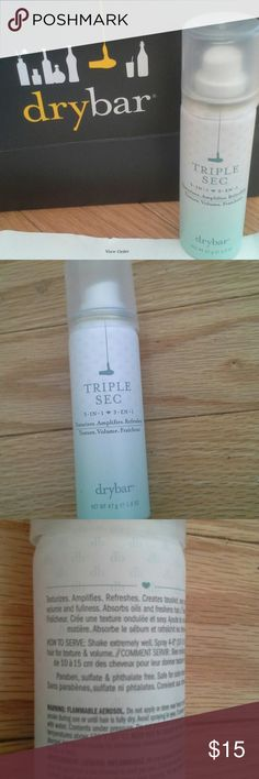 Drybar TRIPLE SEC 3-IN-1 hair texturizer *NWT* Drybar TRIPLE SEC 3-IN-1 hair texturizer , amplifier, and refresher. 1.6 OZ . NEVER USED, Received as a gift.  This product creates tousled, sexy texture while adding volume and fullness to your hair. Aborbs oils and refreshes dried hair.  Comes with bag and proof of purchase. :) drybar Accessories Hair Accessories