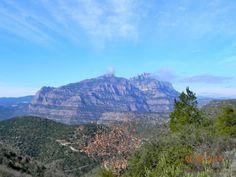 MONTSERRAT, Massís de, vist des la CREU DE SABA, cim del Puigventós, a Olesa de Montserrat.