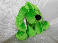 Apple Green Floppy Puppy Springtime ultrasoft by TALLhappyCOLORS #apple #green #springtime #floppy #puppy #dachshund #spaniel #cockerspaniel #beagle #basset #dog #pet #softtoy #homedecor #handmade #doxie #soft #cuddly #giftidea #giftfind #dogbreeds #hound #hope #goodluck #mascot