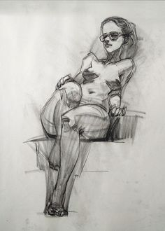 Recent life drawings...