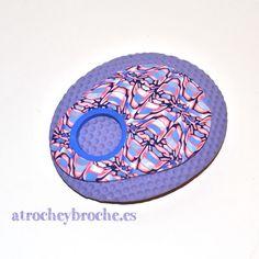 Broche de arcilla polimérica de murrina caleidoscopio #polymerclay #polyclay
