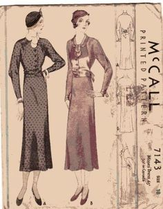 McCall 7143 | ca. 1932 Misses' Dress