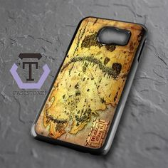 Brown Classic Middle Earth Map Samsung Galaxy S6 Black Case