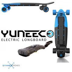 YUNEEC E-GO2 Electric Longboard (Royal Wave)! This is a cool way to get around town! Get there faster and cooler with Yuneec electric skateboard! Get yours today for only $699! FINANCE options available. Monthly payments as low as 25 dollars.