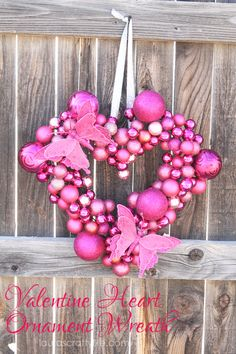Valentine Heart Ornament Wreath