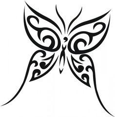 Papillon tribal butterfli, tribal tattoos on side, tattoos calf, papillon, butterfly tattoos