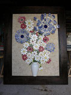 Flower Mosaic   www.nikkiinc.com
