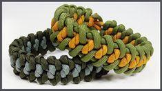 """Paracord Bracelet: """"Snake Groove"""" Bracelet Design Without Buckle"""