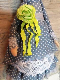 Купить Тильда - салатовый, кукла, куклы, куклы и игрушки, кукла из ткани, кукла в подарок