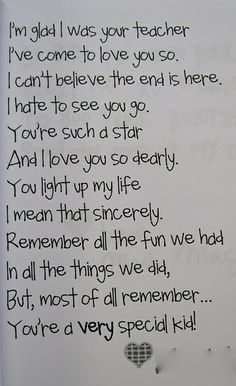 End of the year poem! This makes me feel so sad!!