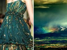Oct, 5, 2015 .Emilio Pucci F W 2011 & Rainy Mountains. Love the color of the fabric and how it drapes Gorgeous!