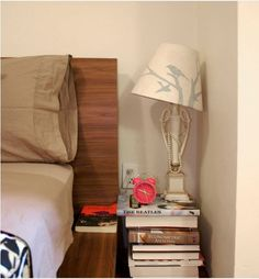 Turn Chunky Books into a Nightstand | 15 DIY Budget Friendly Bedroom Makeover Ideas