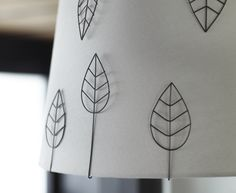 Let the metal leaves of EDSVALLA lamp accessories make a difference to any lampshade.