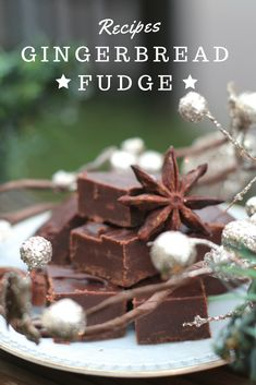 Chocolate Gingerbread Fudge, Simple & Delicious Microwave fudge with just a handful of ingredients. Absolutely perfect!
