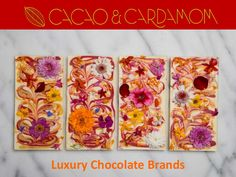 """Luxury-Chocolate-Brands-Cacao-Cardamom"" published by ""cacaoandcardamom"" on Luxury Chocolate, Chocolate Brands, Texas, Cooking Recipes, Sweet, Top, Candy, Chef Recipes"