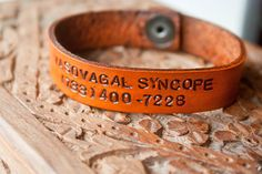 Vasovagal Syncope! Custom Medical Alert Bracelet with Snaps  Made with by MesaDreams, $20.00