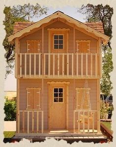 kid playhouse plans 2 level - Google Search More #kidsplayhouseplans #playhousebuildingplans