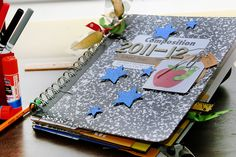 Make a Cinch-Bound Memory Album with Recycled School Supplies