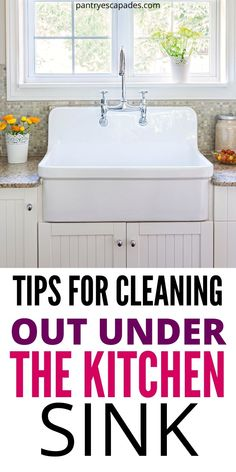 How to clean under the sink | How to Clean Out Around the Sink | Cleaning Under the Sink | How do you Clean Around the Sink | What do you Need to Clean Around the Sink? | What Should you Buy for Sink Organizing? | Under the Sink Organizers | Best Under the Kitchen Cabinet Organizers | #cleaning #cleaningdiy #kitchenhacks #organization Organizing Kitchen Cabinets, Kitchen Hacks, Kitchen Sink, How Do You Clean, Sink Organizer, Diy Cleaning Products, Bathtub, Room, House