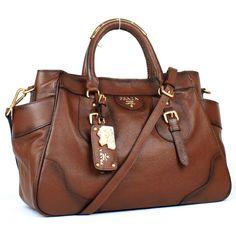 87c15f2ba034 official prada chocolate brown handbag leather yz8721 fashion Latest  Handbags