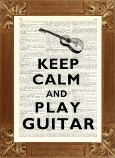Keep calm play guitar Print, vintage illustration printed on old dictionary page Upcycled book Art @ Julie & Adam Guitar Art, Music Guitar, Cool Guitar, Playing Guitar, Learning Guitar, Guitar Quotes, Music Quotes, Quotes Pics, Piano