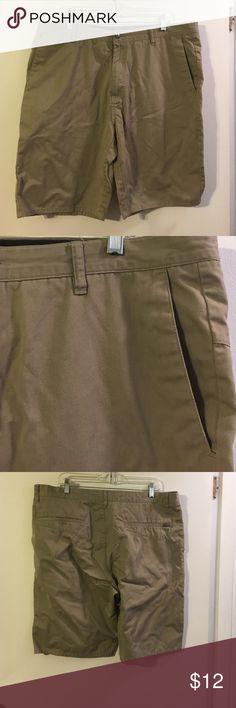 Volcom khaki shorts. Flat front. Slash front pockets Volcom Shorts Flat Front