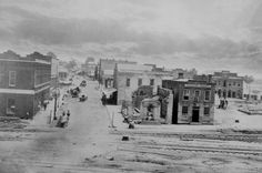 Peachtree Street, Atlanta, after Sherman captured that city in 1864.