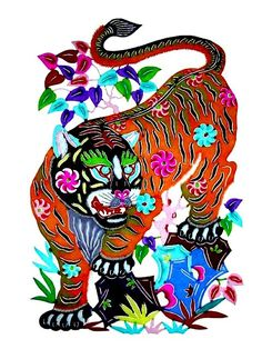 Chinese paper cutting - zodiac tiger. Get in-depth info on the Chinese Zodiac Tiger personality & traits @ http://www.buildingbeautifulsouls.com/zodiac-signs/chinese-zodiac-signs-meanings/year-of-the-tiger/