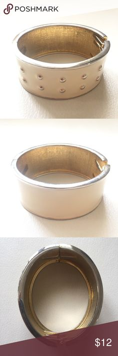 CREAM ENAMEL bangle bracelet Can be used for a Greek Roman Halloween costume party Jewelry Bracelets