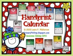 Adorable keepsake calendar with a poem and handprint for every month is guaranteed to warm hearts! It makes a wonderful gift!