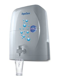 """#EurekaForbes """"4 Ltr"""" Nano #Aquasure RO removes the unwanted salts and impurities and gives only sweet, pure drinking water for your family's good health.This water purifier will last you for a long time as its manual flush facility cleans the cartridge and enhances its life."""
