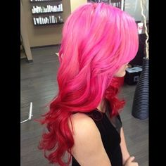 So pretty! Pink to red ombre