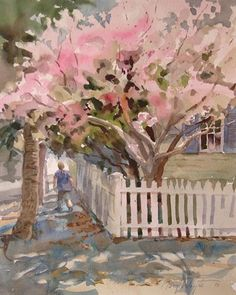 ❀ Blooming Brushwork ❀ garden and still life flower paintings - Blossoms - Mary Whyte