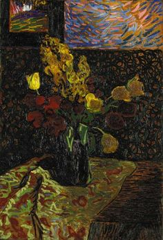 Still life with flowers, Arthur Segal. Romanian (1875 - 1944)