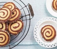Chocolate & Vanilla Swirl Cookies: Wonderfully impressive yet to simple to make!. http://www.bakers-corner.com.au/recipes/cookies/chocolate-vanilla-swirl-cookies/