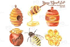 Watercolor Honey Bee
