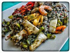 MI PEQUEÑO RINCON : Paella de arroz negro