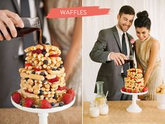breakfast wedding cakes. great ideas for morning weddings! | love and lavender.