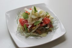 The most perfect salad: grapefruit and shaved fennel meet sherry-shallot vinaigrette.