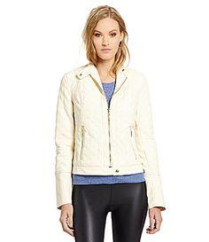 kensie Quilted FauxLeather Jacket #Dillards