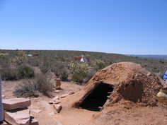 Native American structure at the Grand Canyon West Rim on the Hualapai Indian Reservation