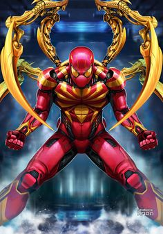 Iron Spider by Sadece Kaan on Artstation X Men Comics, Heros Comics, Marvel Comics Art, Bd Comics, Marvel Heroes, Marvel Avengers, Marvel Fanart, Iron Man, Mundo Marvel