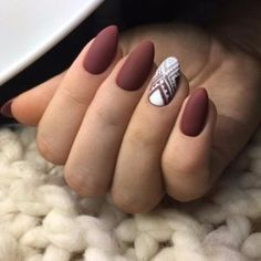 Brown Red Fake Nails Matte Metal Manicure French Long Design Full Cover False Nails with Metal Side Nail Tips - Cute Nails Club Matte Nail Colors, Matte Nail Art, Color Nails, Matte Almond Nails, Matte Gel Nails, Matte Pink, Matte Black, Acrylic Nails, Colorful Nail Designs