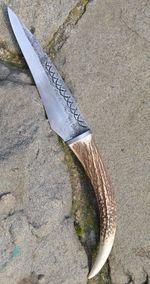 FIANNA, hand forged knife, deer antler